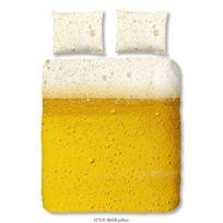 Good Morning - Parure de couette Beer 100% coton - 1 housse de couette 220x240 cm + 2 taies d'oreillers 60x70 cm jaune