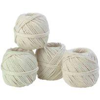 Bd - Cordeau coton câble - 3 mm x 18 m - 10 pelotes
