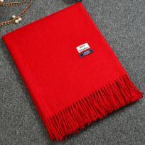 af98a9cf83a5 Wewoo - Echarpe rouge Hiver Hommes Femmes Couple Cachemire Laine Châle  Double Usage Mode Solide Couleur