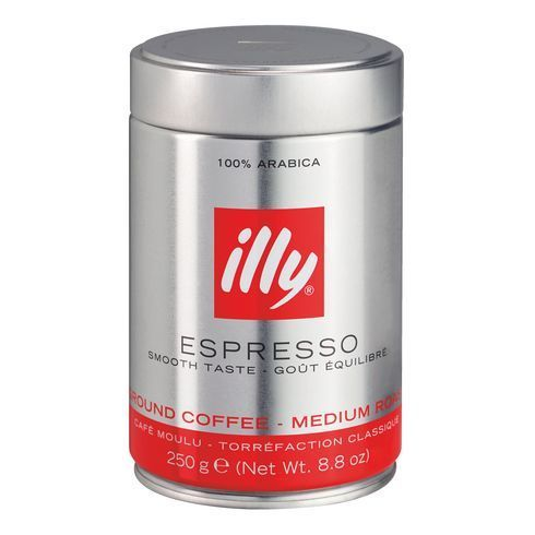 illy caf moulu espresso bo te m tal 250 g pas cher achat vente caf grain rueducommerce. Black Bedroom Furniture Sets. Home Design Ideas
