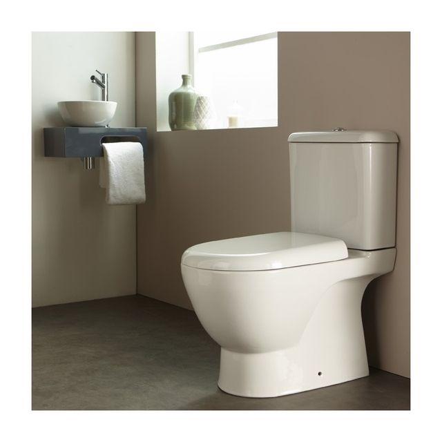 planetebain pack wc poser en porcelaine blanc pas cher achat vente wc rueducommerce. Black Bedroom Furniture Sets. Home Design Ideas