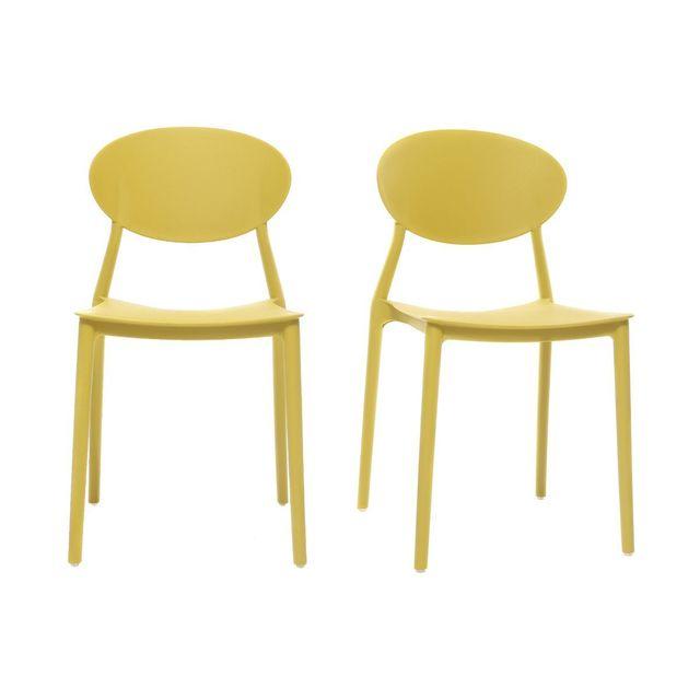 Lot Design Jaune Empilables De Polypropylène 2Anna Chaises y8OPm0Nnvw