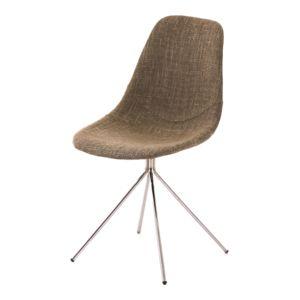alinéa - lucille chaise rétro pieds compas tissu beige - pas cher ... - Chaise Retro Pas Cher