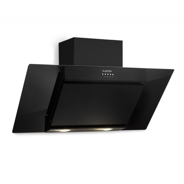 KLARSTEIN Zola 90 Hotte aspirante tête libre 90cm - Débit d'air 640 m³/h - Eclairage LED - Panneau de commande tactile - Design ve
