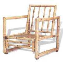 Chaises d'extérieur Joli Chaise de jardin 2 pcs Bambou 60 x 65 x 72 cm