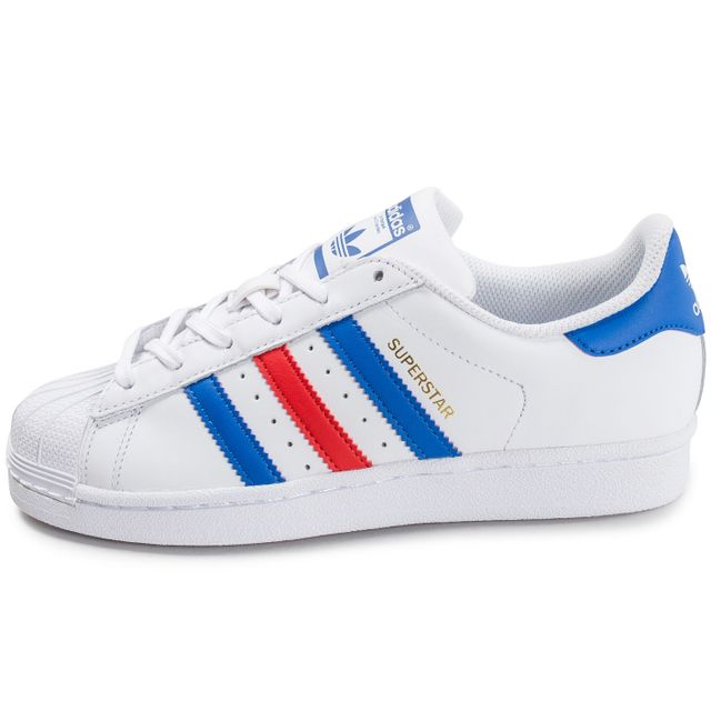 adidas superstar junior rouge