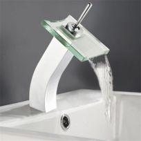mitigeur lavabo bec cascade robinet laiton chrome et verre vidage clic clac Résultat Supérieur 17 Bon Marché Robinet Cascade Pic 2018 Gst3