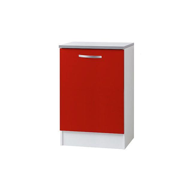 Meuble bas L60xH86xP60cm - rouge
