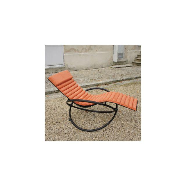 Châlet-jardin - Bain de soleil Aluminium / Textilène 150cm Swing ...
