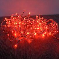 Blachère illumination - Guirlande flicker 128 Leds Rouge