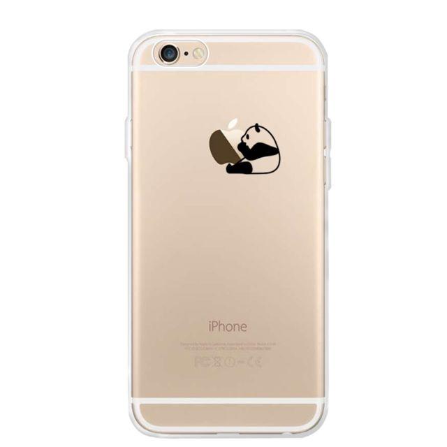 marque generique coque en tpu panda pomme manger pour votre apple iphone 6s plus 6 plus pas. Black Bedroom Furniture Sets. Home Design Ideas