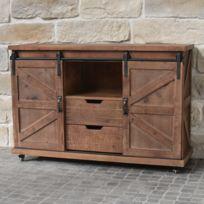 meuble tv hauteur 80 cm achat meuble tv hauteur 80 cm pas cher rue du commerce. Black Bedroom Furniture Sets. Home Design Ideas
