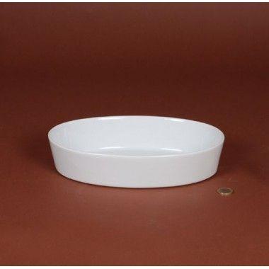 Porcelaine Blanche Plat ovale