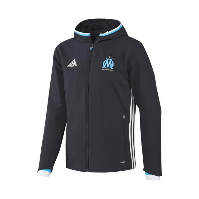Adidas performance Veste à capuche Om Bleu pas cher