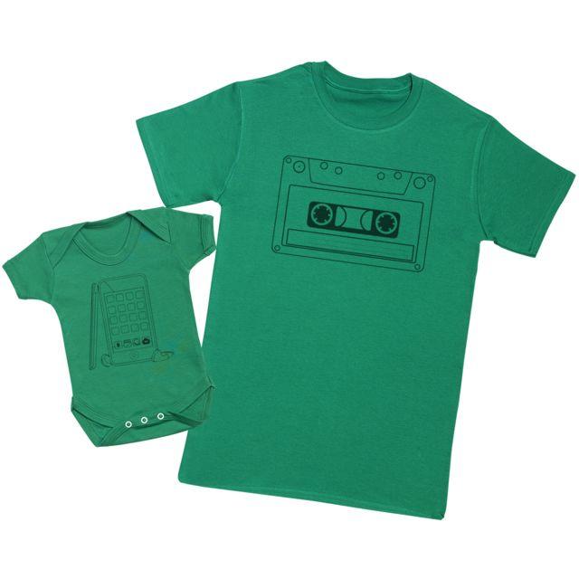 Hommes T-Shirt /& Body b/éb/é Ensemble P/ère B/éb/é Cadeau Zarlivia Clothing Low and Full Battery