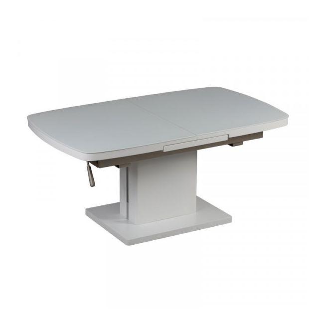 Dansmamaison Table basse relevable extensible - Migac - L 120 x l 70 x H 54 cm