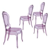 Cosy-Tendance - Lot de 4 Chaises Tendance 153 - Tendance 153 - Violet Transparent