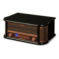 AUNA - Belle Epoque 1908 Chaîne stéréo rétro platine vinyle USB CD MP3 radio K7