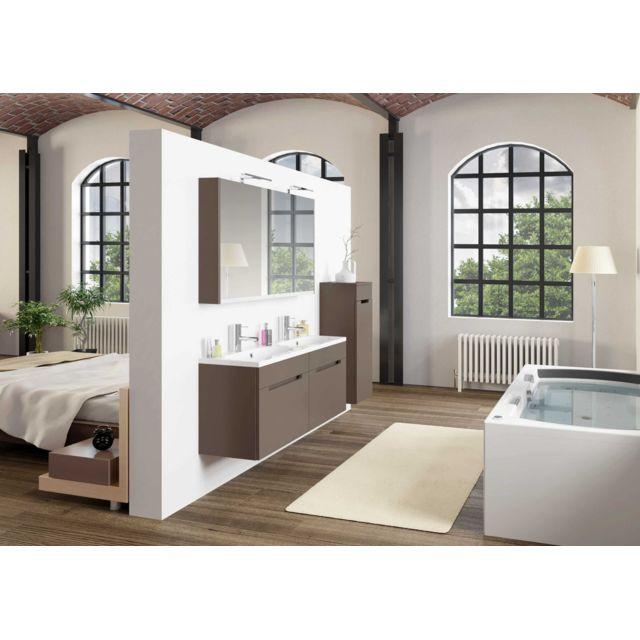 Riho Ensemble meuble & lavabo Enna Set 45 en bois laqué brillant 120x38 H 53,5 cm