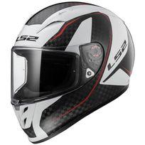 Ls2 - casque moto intégral Fibre Arrow C Evo Ff323.35 Fury carbone blanc brillant 3XL