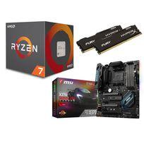 RUE DU COMMERCE - Kit EVO Ryzen 7 - AMD Ryzen 7 1800X - MSI X370 GAMING PRO CARBON - 16 Go DDR4 HYPERX Fury