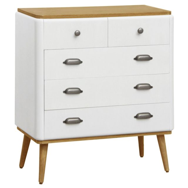 MENZZO Commode Coiffeuse Hansel scandinave Blanc