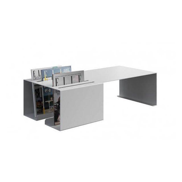 Mathi Design Palm Springs - Table basse acier laqué