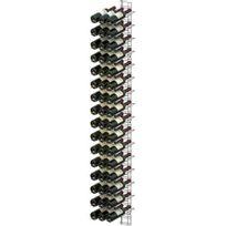 Visiorack - Support mural chromé pour 48 bouteilles de 75cl - Bouteilles inclinées - Chrome Aci-vis204