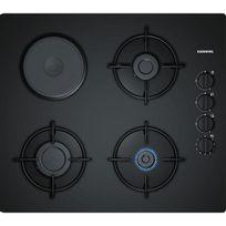 Siemens - table de cuisson verre mixte gaz 60cm noir - eo6b6yb10