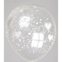 Cotillon D'ALSACE - Sachet 100 BallonsTransparent coeur