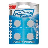 Pmaster - Lot de 4 piles bouton lithium Cr2025 - Lot de 4