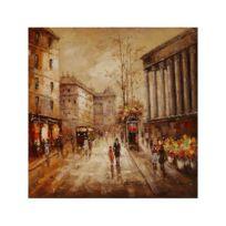 Deco Soon - Tableau Peinture Promenade à Paris