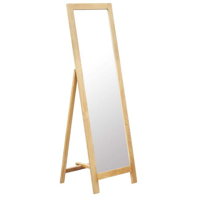 Vidaxl Miroir sur pied 48x46,5x150 cm Bois de chêne solide