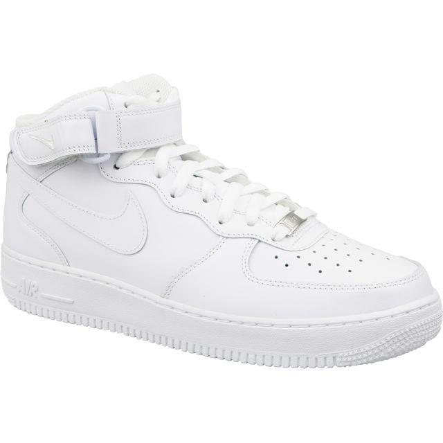 new concept 9a077 0118e Nike - Air Force 1 Mid 07 315123-111 Blanc - pas cher Achat   Vente Baskets  homme - RueDuCommerce