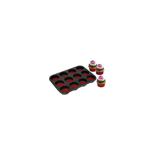 Yoocook Moule à 12 Muffins Ou Cupcakes Pushpan