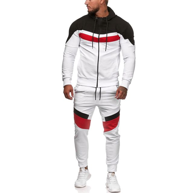 Violento Ensemble jogging fashion Survêtement 1196 blanc