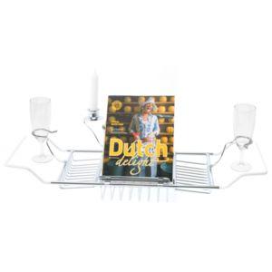 d co maison pont de baignoire porte bougie magazine coupe champagne accessoire salle de. Black Bedroom Furniture Sets. Home Design Ideas