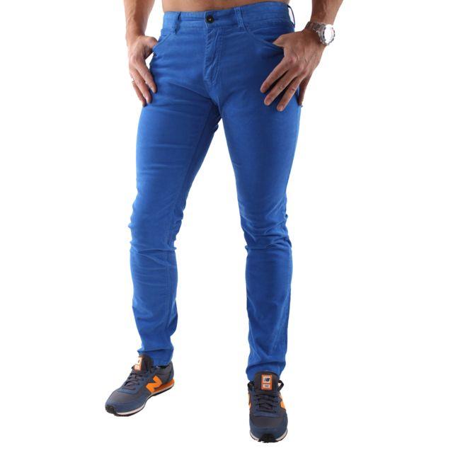 9b21ef36b9f Napapijri - Pantalon N0Y65ZB34 Bleu Velours - pas cher Achat   Vente  Survêtement homme - RueDuCommerce