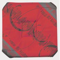 Le Linge De Jules - Galette de chaise anti-taches à rabats Astrid rouge