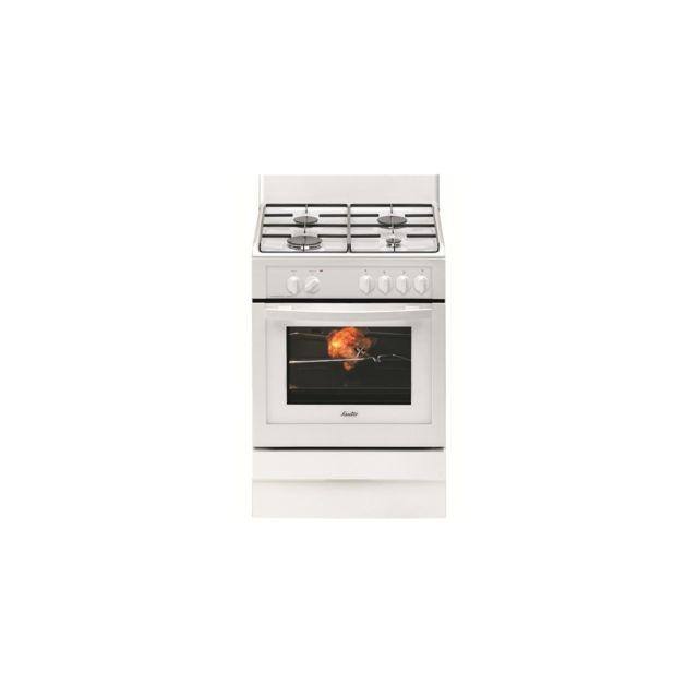 33ce8089646c79 Sauter - Cuisiniere 60CM Mixte Multi Catalyse Blanche Achat   Vente  Cuisinière Gaz pas cher - RueDuCommerce