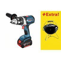 Bosch - Lot perceuse visseuse GSR18 VE-2-Li + 2 batteries 4.0Ah, chargeur + Barbecue Weber - 0615990GY2