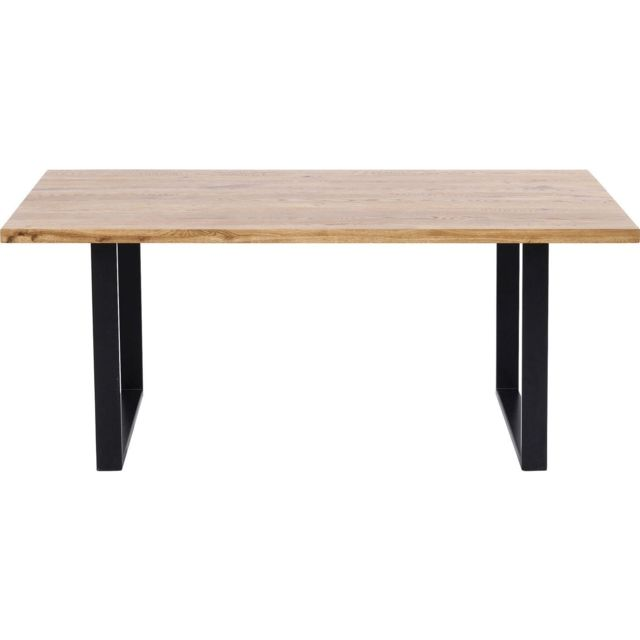 Karedesign Table Jackie chêne noire 180x90cm Kare Design