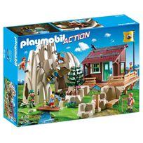 Playmobil - 9126 Action - Rocher d'escalade avec espace d'accueil