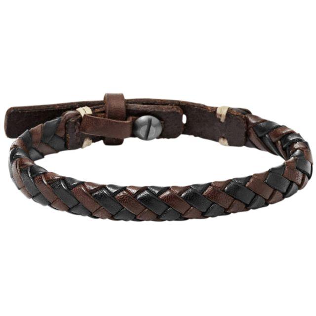 bracelet cuir homme fossil pas cher