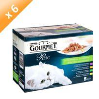 Gourmet - Perle Les Filettines avec des Légumes Multivariétés - 12 x 85 g x6 Pour chat adulte