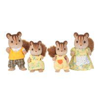Epoch D'enfance - 4 figurines famille Ecureuil roux - 3136