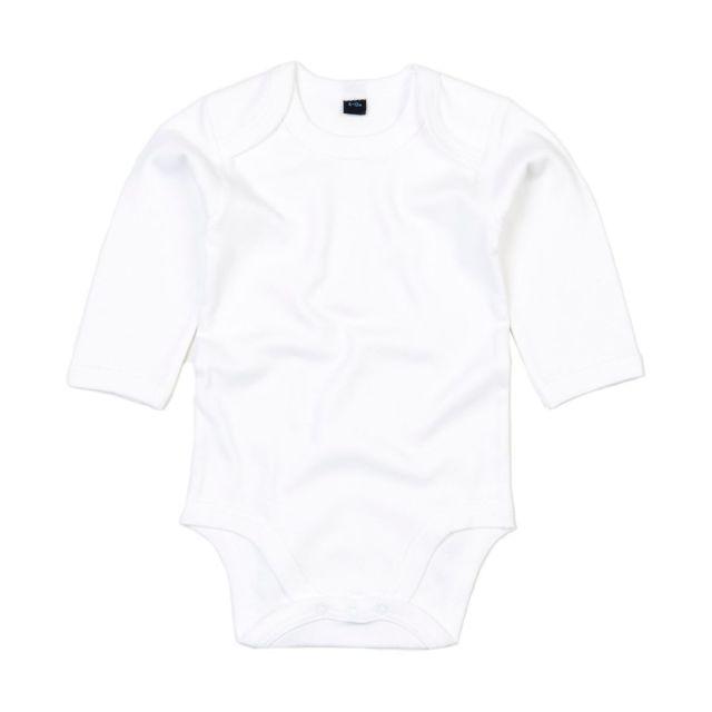 Babybugz - body bébé coton organic manches longues - Bz30 blanc ... 8a7acb04cc9