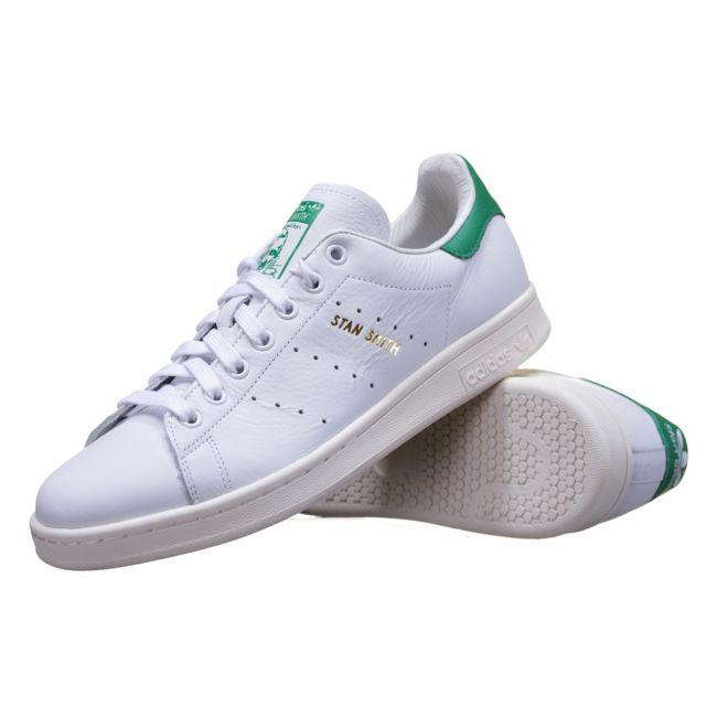 Adidas - Basket Stan Smith S75074 Blanc/Vert