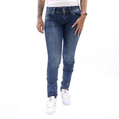 f61cd012712d Pepe Jeans - Jean Slim Vera Bleu Femme Pépé Jeans - pas cher Achat ...
