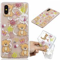 Marque Generique - Coque en Tpu motif ours bruns pour votre Xiaomi Mi 8 Se